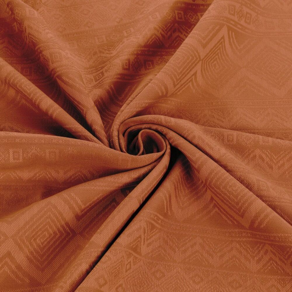 Fidella - Baby Wrap Fastvikle - Cubic Lines/Rustred-6579