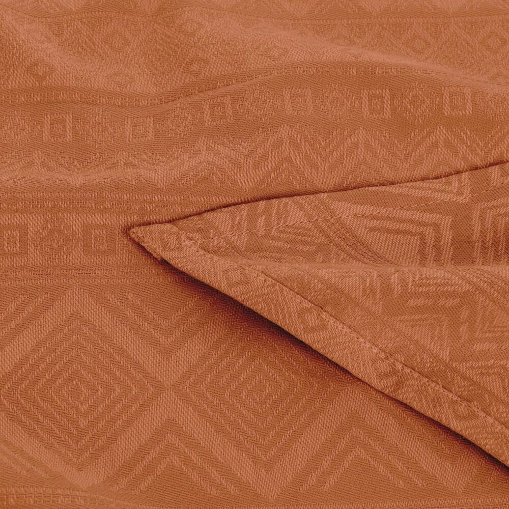 Fidella - Baby Wrap Fastvikle - Cubic Lines/Rustred-6584