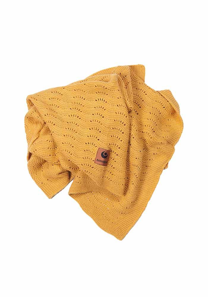Easygrow GRANDMA Wave Tæppe - Yellow Melange