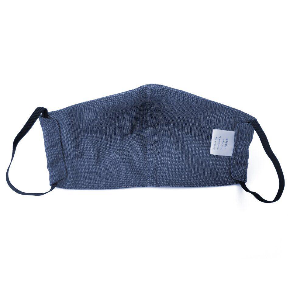 Fidella Mundbind-Chevron-Denim Blue med elastik-6407