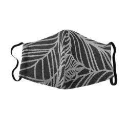 Fidella Mundbind-Dancing Leaves-Black/White med elastik-0