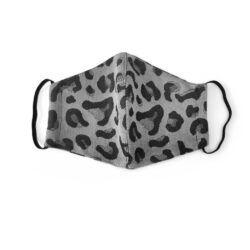 Fidella Mundbind-Leopard-Silver med elastik-0