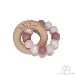 bybabybubbles-bide-ring-teething-ring-berrylicious-pink-dusty-rose-pearl