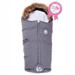 Easygrow_foot_muff_kørepose_nature_dun_bomuld_økologisk_økotex_Grey_melange_vinter_varme