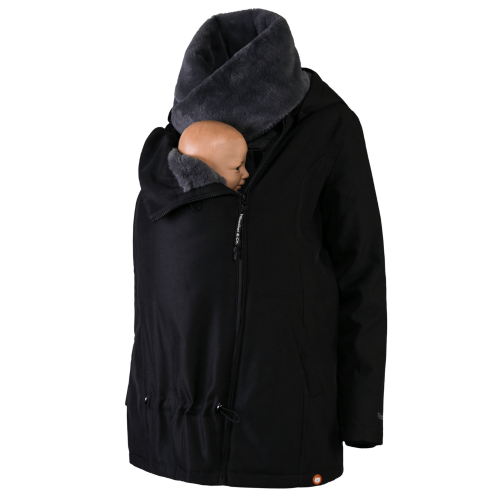 Wombat Bærejakke Wallaby Charcoal Black/Grey